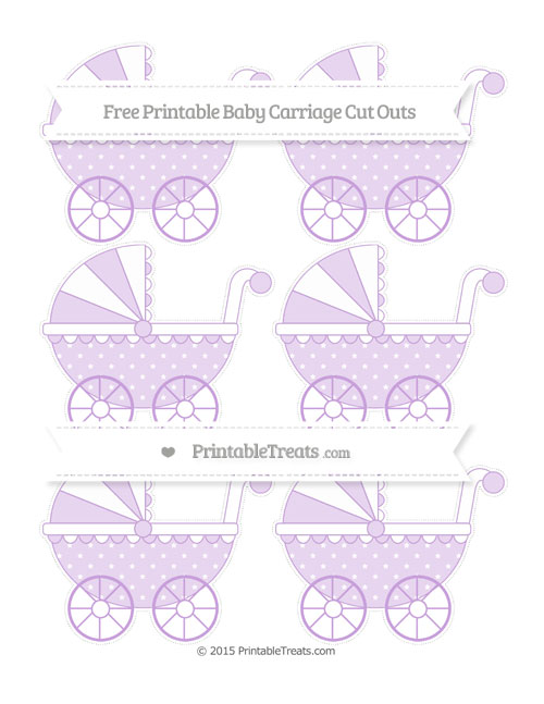 Free Wisteria Star Pattern Small Baby Carriage Cut Outs