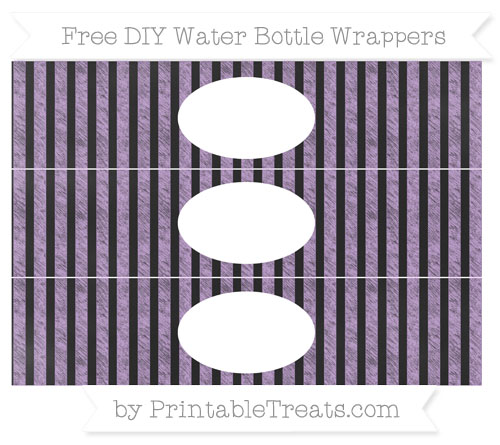 Free Wisteria Striped Chalk Style DIY Water Bottle Wrappers
