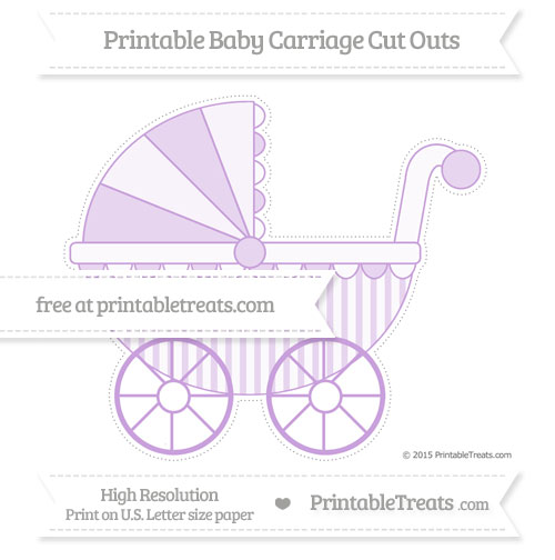 Free Wisteria Striped Extra Large Baby Carriage Cut Outs