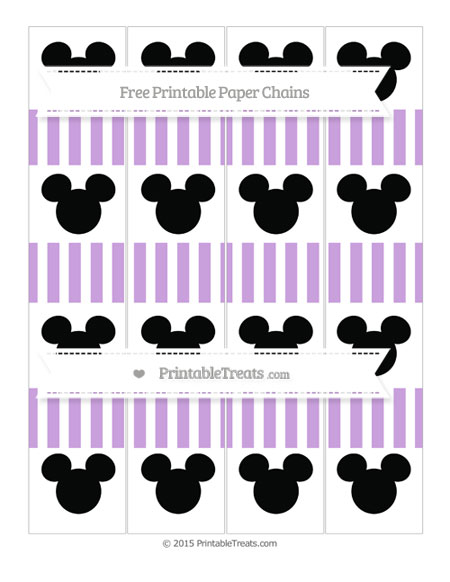 Free Wisteria Striped Mickey Mouse Paper Chains