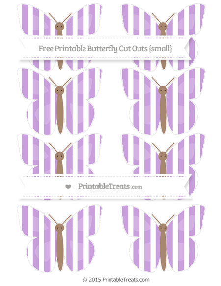 Free Wisteria Striped Small Butterfly Cut Outs