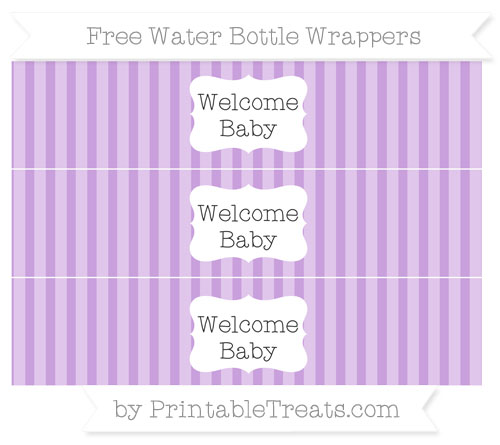 Free Wisteria Striped Welcome Baby Water Bottle Wrappers