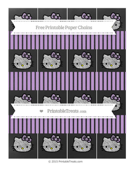Free Wisteria Thin Striped Pattern Chalk Style Hello Kitty Paper Chains