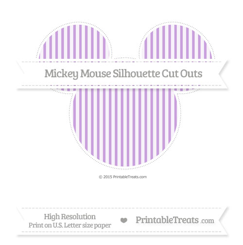 Free Wisteria Thin Striped Pattern Extra Large Mickey Mouse Silhouette Cut Outs