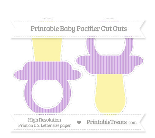 Free Wisteria Thin Striped Pattern Large Baby Pacifier Cut Outs