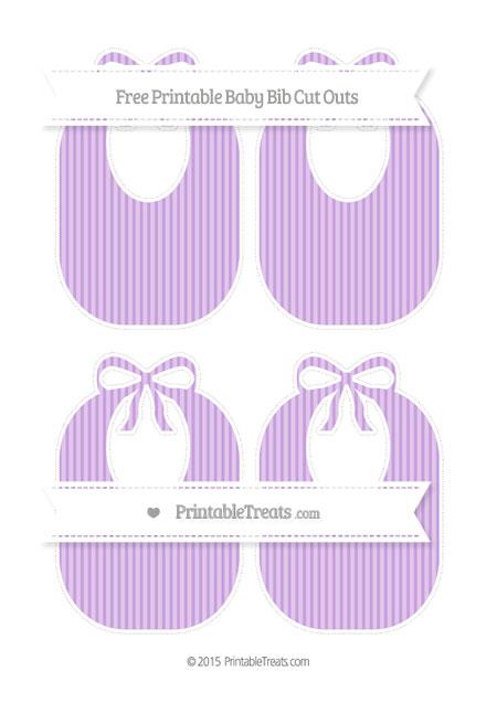 Free Wisteria Thin Striped Pattern Medium Baby Bib Cut Outs