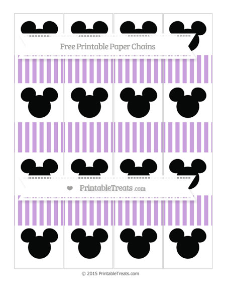 Free Wisteria Thin Striped Pattern Mickey Mouse Paper Chains