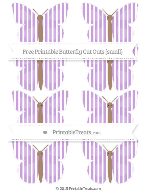 Free Wisteria Thin Striped Pattern Small Butterfly Cut Outs