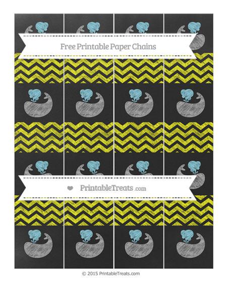 Free Yellow Chevron Chalk Style Whale Paper Chains