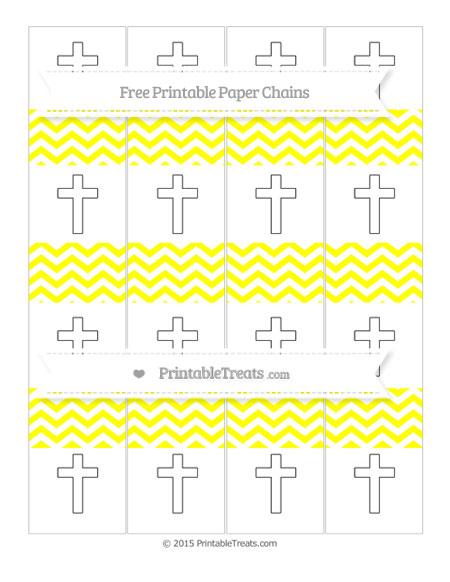 Free Yellow Chevron Cross Paper Chains