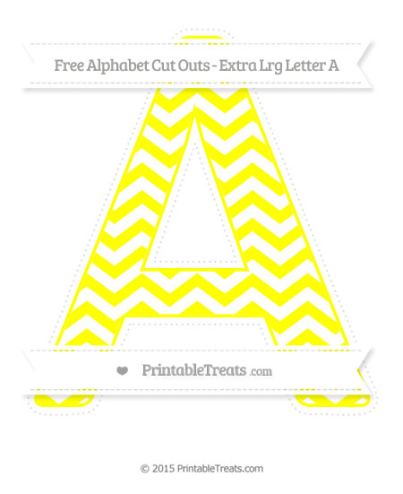Free Yellow Chevron Extra Large Capital Letter A Cut Outs