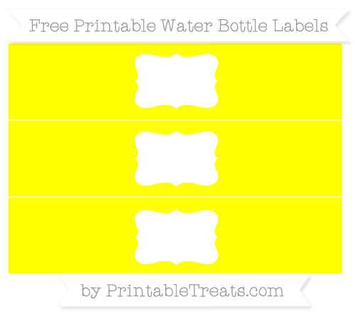 Free Yellow Water Bottle Labels