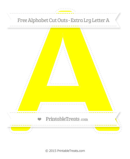 Free Yellow Extra Large Capital Letter A Cut Outs