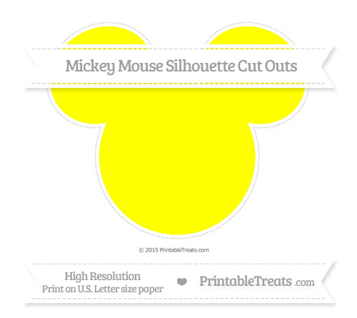 Free Yellow Extra Large Mickey Mouse Silhouette Cut Outs