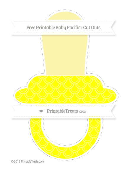 Free Yellow Fish Scale Pattern Extra Large Baby Pacifier Cut Outs