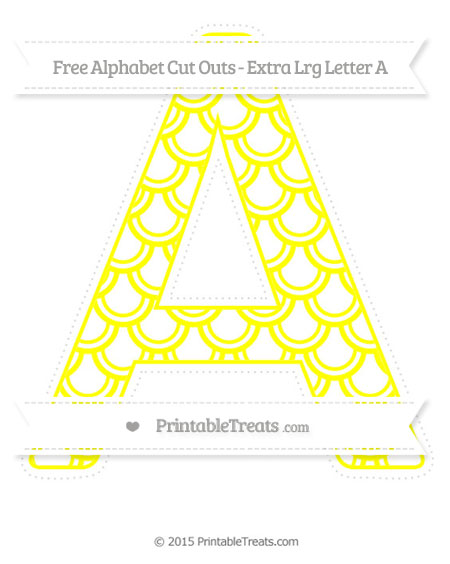 Free Yellow Fish Scale Pattern Extra Large Capital Letter A Cut Outs