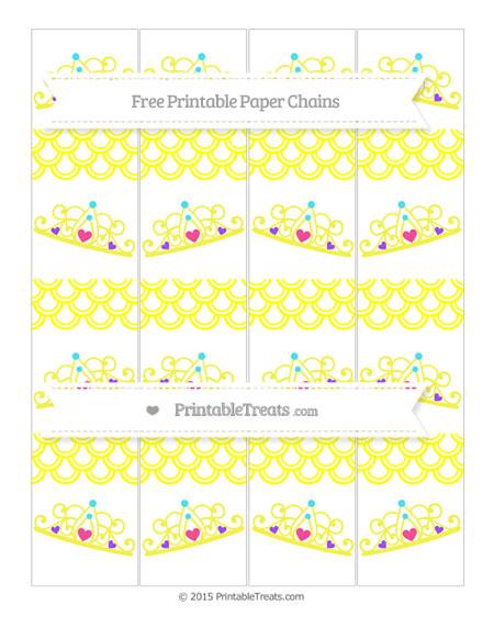 Free Yellow Fish Scale Pattern Princess Tiara Paper Chains