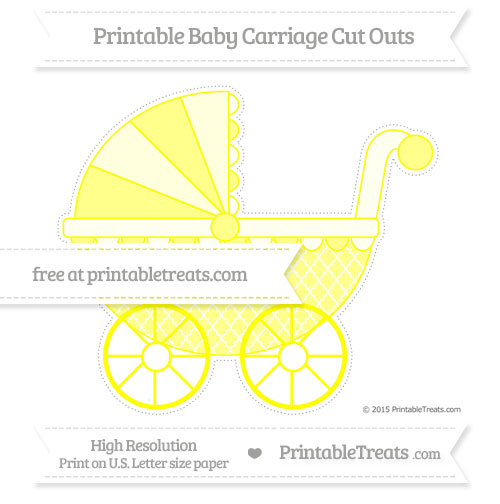 Free Yellow Moroccan Tile Extra Large Baby Carriage Cut Outs