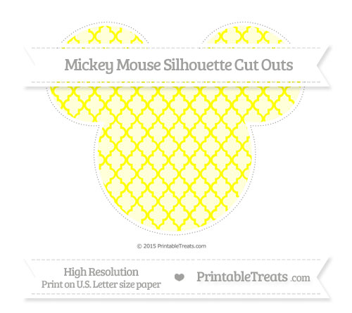 Free Yellow Moroccan Tile Extra Large Mickey Mouse Silhouette Cut Outs
