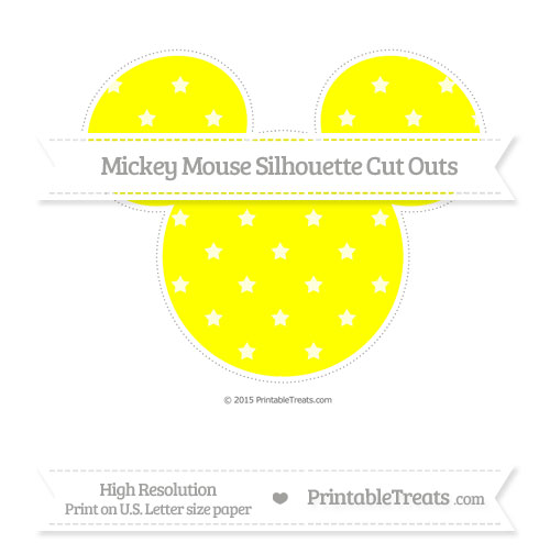 Free Yellow Star Pattern Extra Large Mickey Mouse Silhouette Cut Outs