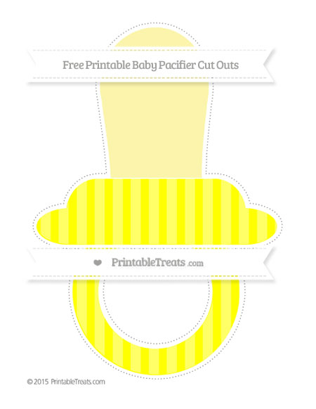 Free Yellow Striped Extra Large Baby Pacifier Cut Outs