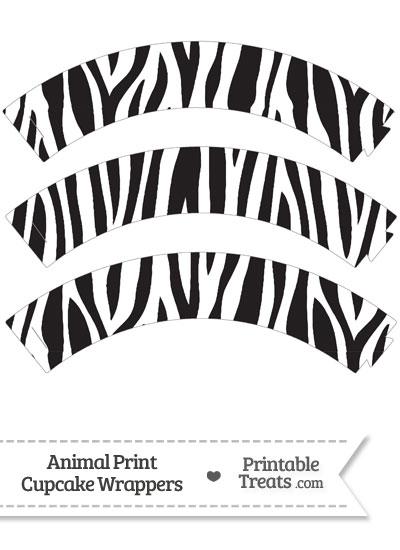 Free Zebra Print Cupcake Wrappers from PrintableTreats.com