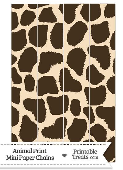 Giraffe Print Paper Chains from PrintableTreats.com