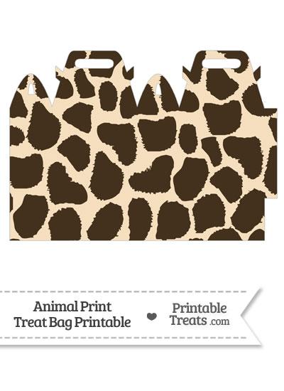 Giraffe Print Treat Bag from PrintableTreats.com