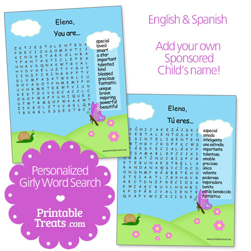 girly word search