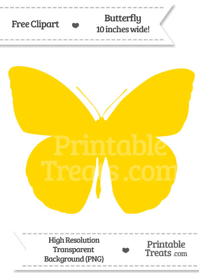 Gold Butterfly Clipart from PrintableTreats.com