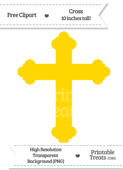 Gold Cross Clipart from PrintableTreats.com