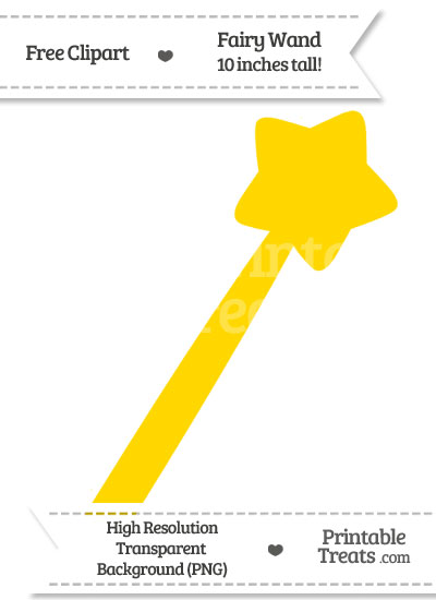Gold Fairy Wand Clipart from PrintableTreats.com