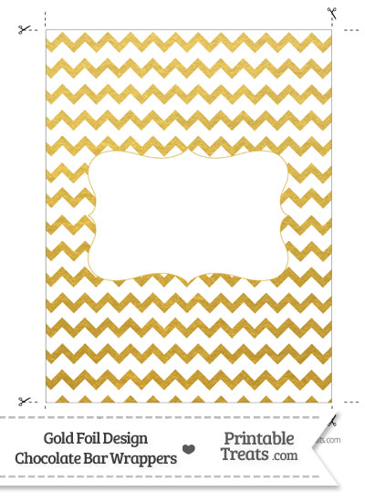 Gold Foil Chevron Chocolate Bar Wrappers from PrintableTreats.com