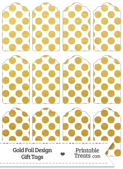 Gold Foil Dots Gift Tags from PrintableTreats.com
