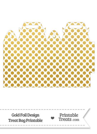 Gold Foil Dots Treat Bag from PrintableTreats.com