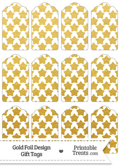 Gold Foil Stars Gift Tags from PrintableTreats.com