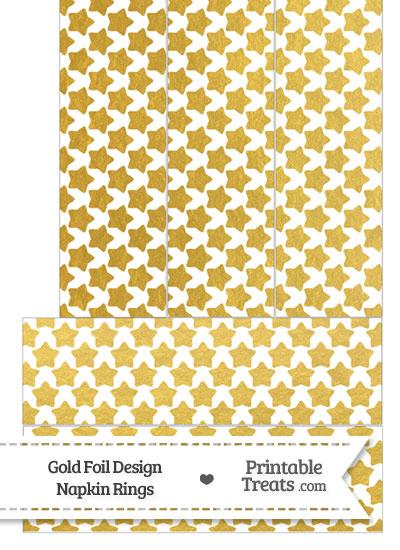 Gold Foil Stars Napkin Rings from PrintableTreats.com