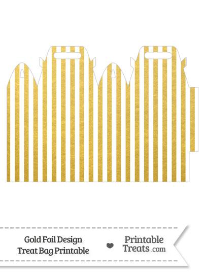Gold Foil Stripes Treat Bag from PrintableTreats.com