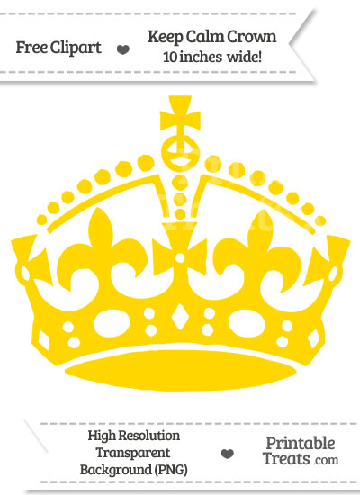 Gold Keep Calm Crown Clipart from PrintableTreats.com