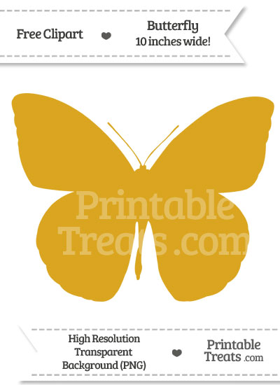 Goldenrod Butterfly Clipart from PrintableTreats.com