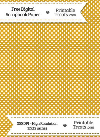 Goldenrod Raised Mini Polka Dots Digital Paper from PrintableTreats.com