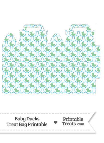 Green Baby Ducks Treat Bag from PrintableTreats.com