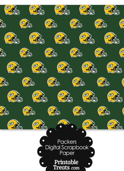 Green Bay Packers Football Helmet Digital Paper from PrintableTreats.com