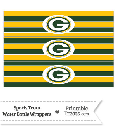 Green Bay Packers Water Bottle Wrappers from PrintableTreats.com