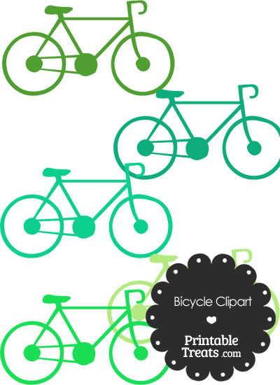 Green Bicycle Clipart from PrintableTreats.com
