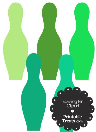 Green Bowling Pin Clipart from PrintableTreats.com