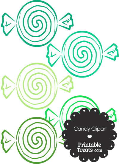 Green Candy Clipart from PrintableTreats.com