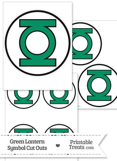 Green Lantern Symbol Cut Out from PrintableTreats.com