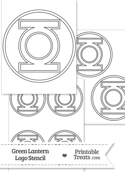 Green Lantern Symbol Stencil from PrintableTreats.com
