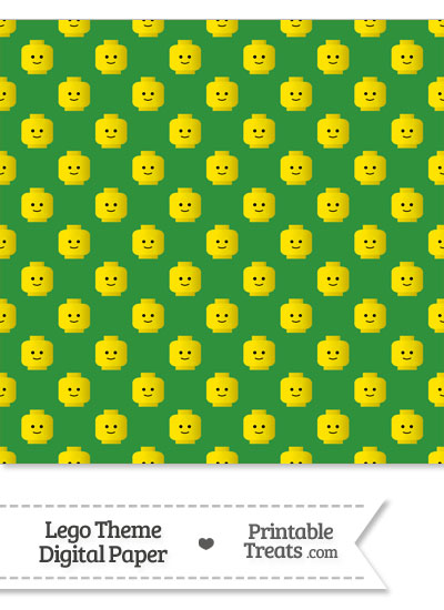 Green Lego Theme Digital Scrapbook Paper from PrintableTreats.com